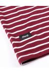 Stripe Tees Maroon Short Sleeve