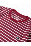 Stripe Tees Maroon Long Sleeve
