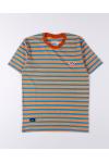 Stripe Tees Orange Short Sleeve